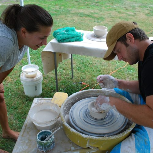 pottery experience at Stepping Stones Pottery unique date night idea in Mocksville