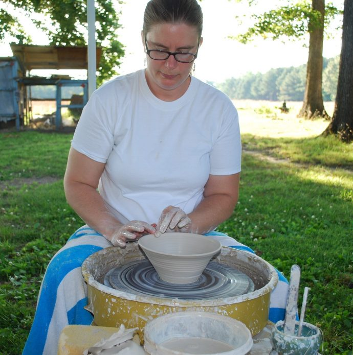 Kyla Glover owner at Stepping Stones Pottery